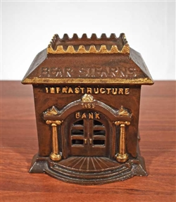 Bear Stearns Cast Iron Bank