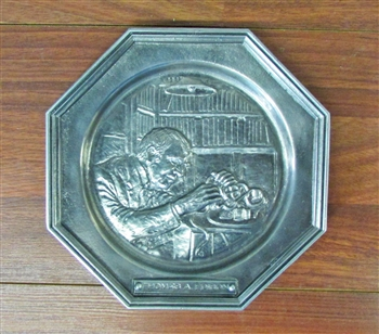 1970s Thomas Edison Stock Ticker Plate