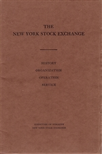 1929 NYSE History Organization Operation Service Booklet