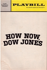 How Now, Dow Jones Playbill - Lunt-Fontanne Theatre