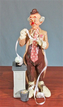 Stock Broker Clown Statue