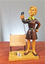 Female Stockbroker Sculpture by Romer