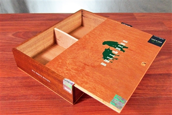 Bull and Bear Wooden Cigar Box