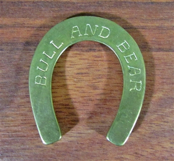 Brass Bull and Bear Club Horseshoe