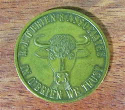 R.J. O'Brien & Associates Bull and Bear Coin