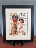 Framed Saturday Evening Post Charles Leyendecker Cover