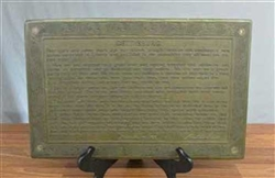 Bronze Gettysburg Address Building Plaque