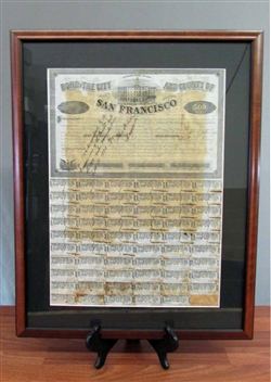 1858 - Bond of the City and County of San Francisco