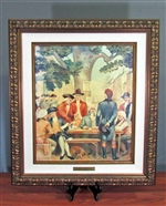 Framed Buttonwood Agreement Painting