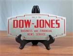 Vintage Dow Jones Metal Sign