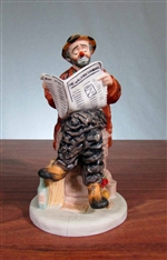 Emmett Kelly Wall Street Journal Broker Statue