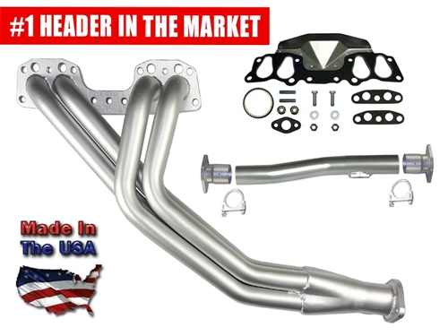 Street Header Kit 2WD 22R/RE 1985-1995