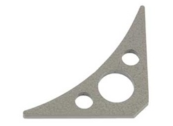 Weld-In Frame Gussets 3 Hole Triangle