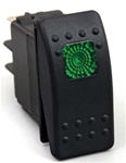 Rocker Switch 20 Amp (Green)