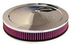 "K&N Air Filter - 14"" x 2"" Air Assembly - Chrome"