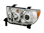 Chrome Projector Headlight Set with Halo (CCFL) For 2007-2013 Tundra/Sequoia