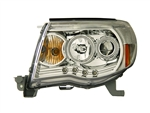 Chrome Headlight Set LED Projector with Halo (CCFL) For 2005-2011 Tacoma