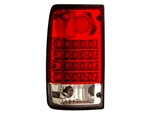 Red/Clear LED Tail Light Set For 1989-1995 Pickup