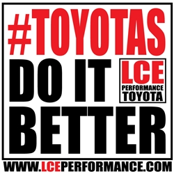 "LCE #ToyotasDoItBetter Decal 6"" x 6"""