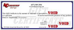 LCE $200 Gift Certificate