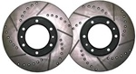 Solid Axle Vented Conversion Cross-Drilled Rotor