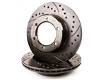 Sequoia Front Cross Drilled Slotted Drilled Rotor All Engines 6 Lug (Set of 2)