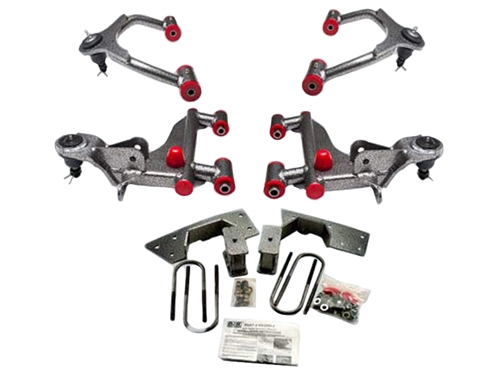 "DJM Calmax Lowering 3"" Upper & Lower Control Arms For 2005-2014 Tacoma (With Balljoints)"