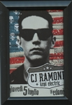 CJ RAMONE with Kepi Electric Framed print with drawing by Kepi