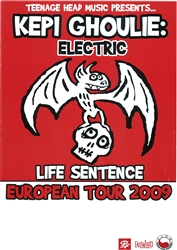 Kepi Ghoulie Electric  European Tour 2009 Poster
