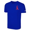 Cotton Tee Shirt with Covid-19 Red Ribbon Logo