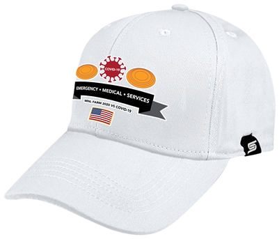 Team Baseball Cap with Covid-19 EMS & Flag Logo