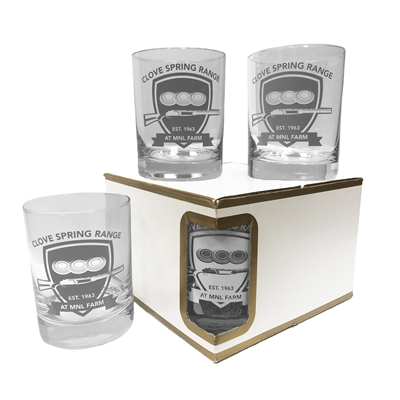 Set of 4 Premium Double Old Fashion Glasses - 14 Oz