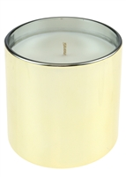 12 Oz Electroplated Glass Candle with Lid - Orange Scent