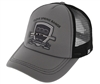 Trucker Hat with B&W Shield Clove Spring at MNL Farm Logo