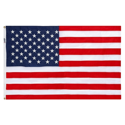 5' x 8' Nylon Made Embroidered Flag, No Box - Made in USA