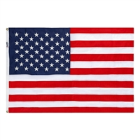 4' x 6'  Embroidered Flag, In Box - Made in USA