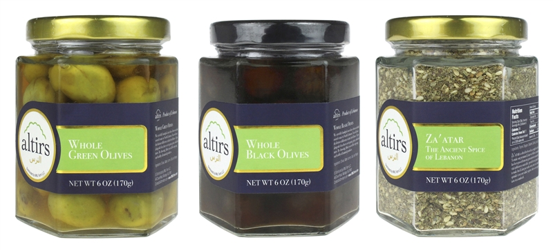 Combination Pack Green Olives, Black Olives and Za'atar