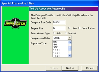Special Forces Ford Gas tuning kit - chip
