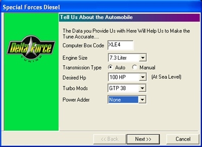 Special Forces Ford diesel tuning kit - chip