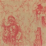 Santa Toile Design Wholesale Gift Wrap Special Promo