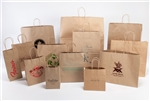 Natural Kraft Shopping Bags