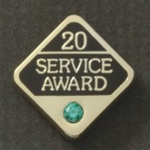 20 YEARS GEMSTONE SERVICE AWARD PIN