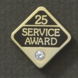 25 YEARS GEMSTONE SERVICE AWARD PIN