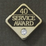 40 YEARS GEMSTONE SERVICE AWARD PIN
