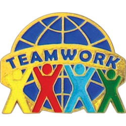 TEAMWORK WORLD PIN