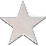 SILVER SMOOTH STAR LAPEL PIN