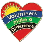 VOLUNTEERS HEART PIN