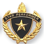 STAR PERFORMER W/ WREATH PIN