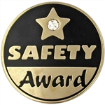 SAFETY AWARD RHINESTONE PIN
