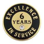 6 YEARS OF SERVICE PIN W/ STONE